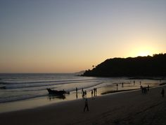 Sunset at Bogmalo Beach, Goa, India