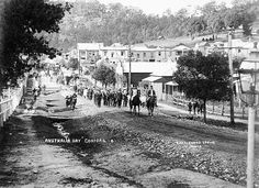 Australia Day parade, Donnison Street, 30 July 1915 by Gostalgia: local history from Gosford Library, via Flickr Australia Day, Western Australia, Tourist Info, 30 July, Old Maps, Historical Images, Central Coast, Aussies, Local History
