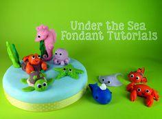 Under the Sea Themed Tutorial: Fondant Sea Horse - Bake Happy