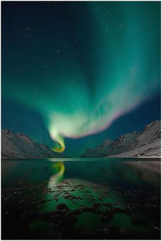 The Aurora Borealis. The Norse believed that they were produced by the Valkyries-as they rode across the night sky, their chainmail would shimmer and glisten making these lights.