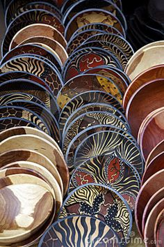 Wooden bowls and other utensils are often used in cooking of South African meals. These beautifully crafted and sometimes painted bowls are a big export for South Africa.