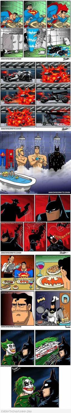 funny batman superman comics cartoon