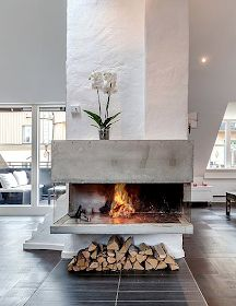 Home Improvement Archives Living Room Tv Cabinet, Ikea Living Room, Living Rooms, Living Room With Fireplace, Modern Fireplaces, Wood Burner, Modern Rustic, Home Improvement, Sweet Home