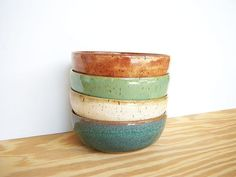 Instant Collection Stoneware Pottery Bowl Set  by dorothydomingo, $64.00