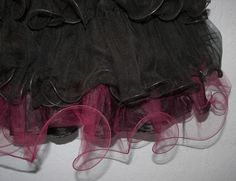 How To Make a Lettuce Edge Tulle Ruffle With Your Sewing Machine -- It looks awfully easy...