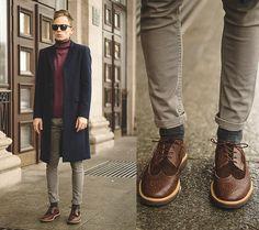 One Board Dark Blue Coat, Shoes