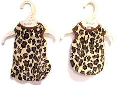 Leopard Faux Fur Dress ........................... on sale just $10.00!! Available at http://doggyinwonderland.com/item_1649/Leopard-Faux-Fur-Dress-Jersey.htm