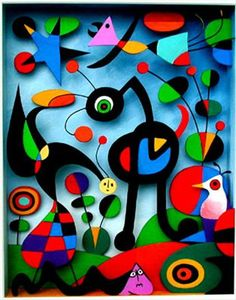 Joan Miro'. I may have inadvertently been channeling this artist. Not intentionally copying.
