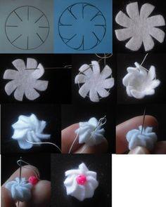 Felt meringue flower.