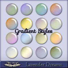MystD - Lavender Dreams - Gradient Styles [MystD-LavenderDreams-GrdSts] - $3.45 : Digital Scrapbooking Store | Digi Style Designs Descriptio...