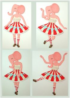 articulated paper doll elephant | cart before the horse