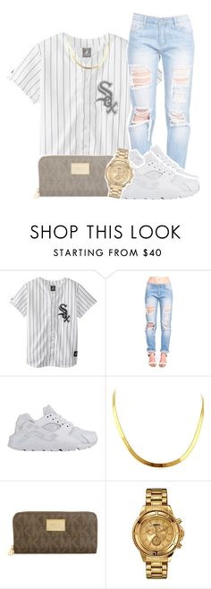 """""""8.10.2015"""" by kennedy-xoxo ❤ liked on Polyvore featuring NIKE, Michael Kors and Versus"""