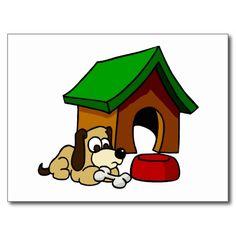 Doghouse Scene Post Card