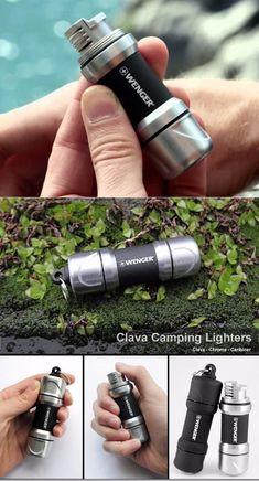 WENGER CLAVA CHROMEBLACK LIGHTER - Survival Gear Torch - Everyday Carry Gear #survivalflashlight
