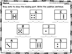 Use these sheets in your differentiated math work stations for composing numbers and part-part-whole.