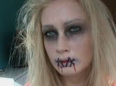 Image result for zombie makeup