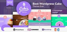 Cake Dream - Responsive Wordpress Woocommerce Theme . Cake has features such as High Resolution: Yes, Widget Ready: Yes, Compatible Browsers: IE9, IE10, IE11, Firefox, Safari, Opera, Chrome, Edge, Compatible With: WooCommerce 2.6.x, WooCommerce 2.5, WooCommerce 2.4.x, WooCommerce 2.3.x, WooCommerce 2.2.x, Software Version: WordPress 4.6.1, WordPress 4.6, WordPress 4.5.x, Columns: 2