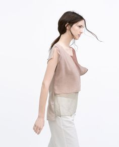 Image 3 of PASTEL LAYERED TOP from Zara