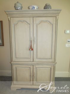 Secrets of Segreto - Segreto Secrets Blog   Beautiful work!!!!! painting armoire that now resembles painted french piece. It was dark mahogany