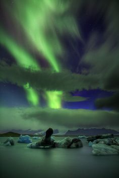 Vertical Climb...  the Northern Lights ..