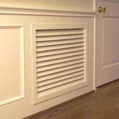 Return Air Grilles are ideal for renovating that worn-out dingy ones now in your home. These decorative return air grilles are pre-primed with an oil-based primer so you can paint them to blend in with any decor. Air Return Vent Cover, Air Vent Covers, Sr1, Wainscoting, Built Ins, Home Projects, Weekend Projects, Sweet Home, New Homes
