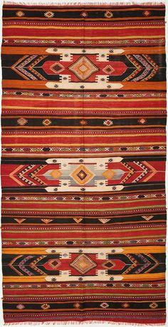 """Anatolian Kilim 5'6""""x10'6"""": Kilim Rugs, Dhurry Rugs, Tribal Rugs, Flatweave Rugs - ABC Carpet  Home"""