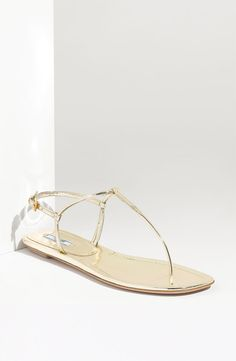 hello #summertime!  Prada T-Strap sandals....dying to order them....