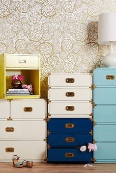 Anthropologie Lacquered Wellington Three Drawer Dresser #anthroregistry