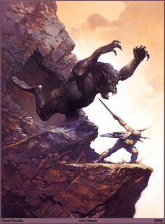 Well, you should have just left him alone.  Cave Demon - Frank Frazetta