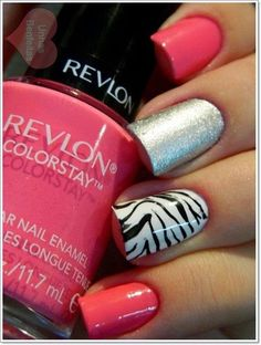 Zebra Print Nails Design Ideas 2015