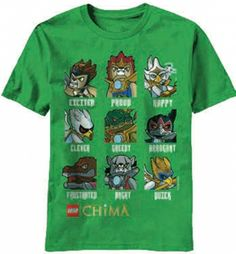 Kiditude - Chima Animal Types Youth T Shirt $17.95 Read more: http://www.kiditude.com/catalog/chima/chima-animal-types-youth-t-shirt-1005.html