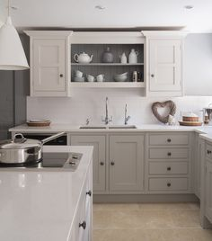 Lets continue yesterdays Best Grey Paint post (where I shared my current favourite grey paints for front doors) with. The Best Grey Pa. Kitchen Paint, New Kitchen, Kitchen Decor, Kitchen Cabinets, Kitchen Ideas, Open Cabinets, Natural Kitchen, Best Gray Paint Color, Grey Paint