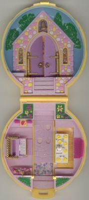 1989 - Polly Pocket Bridesmaid Polly    Keepsake Collection    Mattel 9381    aka Polly in a Wedding - Classic Collection    Bluebird Toys