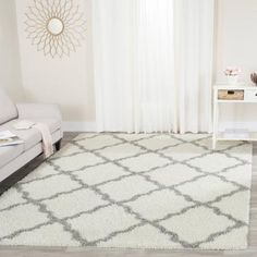 Safavieh Daley Power-Loomed Shag Area Rug - Walmart.comIt is polypropylene, but not bad for the price