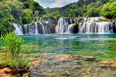 Fantastic waterfalls of Krka National Park, near Sibenik, Croatia