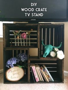 Check out how to build a TV stand from crates @istandarddesign
