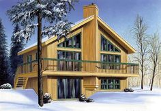Small footprint. House Plan chp-10473 at COOLhouseplans.com
