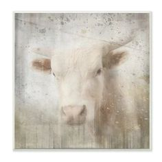 The Stupell Home Decor Sheep in Front of The Farmhouse Green Toned Painting Wall Plaque Art Multi-Color