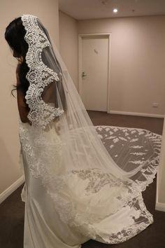 Wedding Dress With Veil, Wedding Veils, Tulle Wedding, Dream Wedding Dresses, Bridal Lace, Bridal Dresses, Bridal Comb, Lace Veils, Mantilla Veil