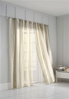 Natural Sheer Stripe Single Panel Curtains from Next