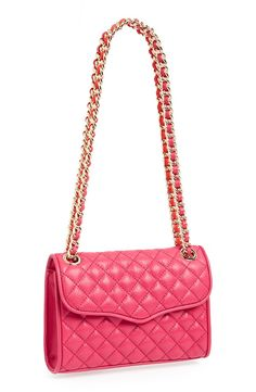 Crushing on this quilted pink gem | Rebecca Minkoff 'Mini Affair' convertible crossbody bag.
