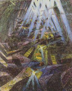 """Umberto Boccioni: """"Forze di una Strada"""", 1913"""