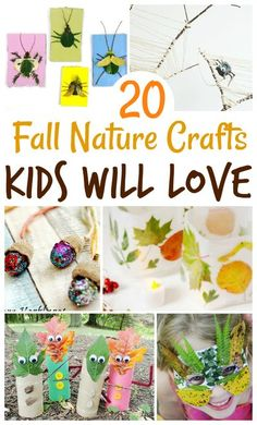 We curated 20 fall nature crafts your kids will absolutely love! So, get out and explore outside with your kids.. and then create some lovely art and craft projects with them! #fall #fallcrafts #crafts #naturecrafts #kidcrafts #diycrafts