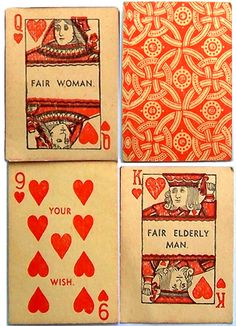 1920s FORTUNE TELLING CARDS ... Love the pattern on the back