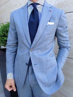 Loving the blue suit a must need in my suit collection