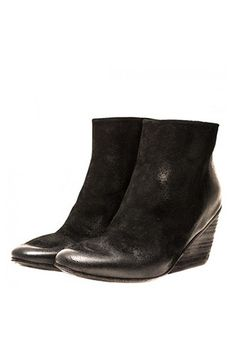 Marsèll Treated Suede Wedge Boots, $975, available at Mona Moore. #refinery29 http://www.refinery29.com/wedge-shoes#slide-7