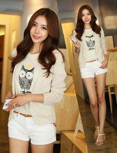 blazer and owl shirt