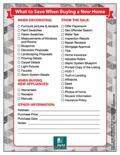 new homeowner checklist | tips for first time home buyers | pinterest