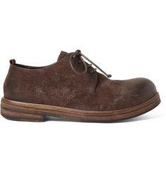 Washed-Suede Derby Shoes | MR PORTER