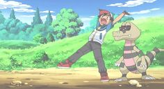 I think its funny when Ash and Krokorok stand on their hands.